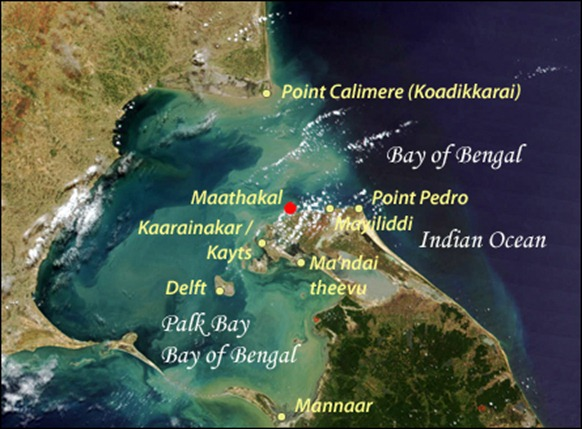 Satellite Image Courtesy: NASA, Visible Earth. Details & Legend: TamilNet