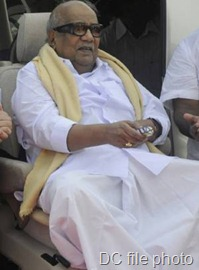 DMK chief M. Karunanidhi says he is under no pressure from Centre over a recently floated Eelam outfit - DC file photo