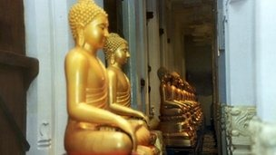 Mistreatment of Buddhist images and artefacts is strictly taboo in Sri Lanka