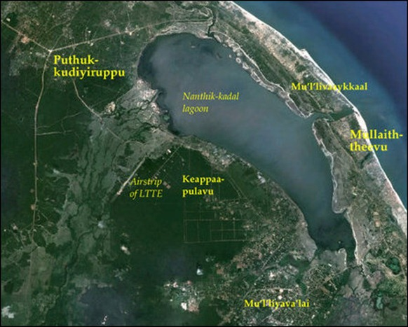 The locality of Keappaapulavu and the former airstrip of the LTTE