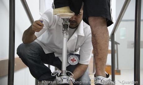 Khuram Shaikh doing the work he loved.  - Guardian