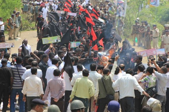 Protest by MDMK in Madhya Pradesh