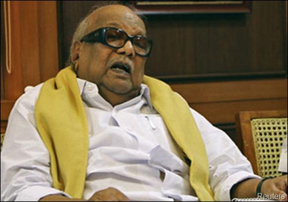 DMK president M.Karunanidhi