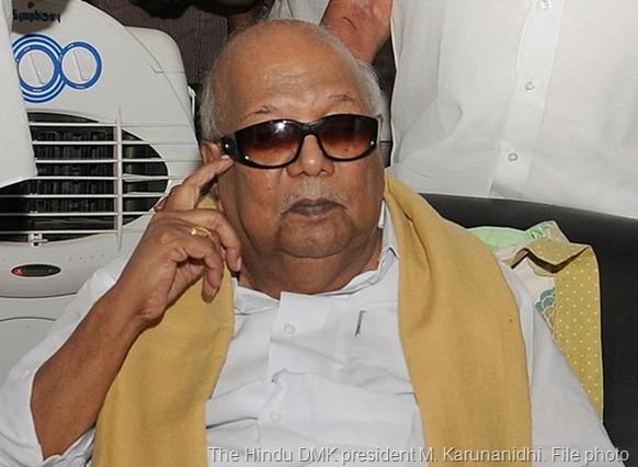 The Hindu DMK president M. Karunanidhi. File photo