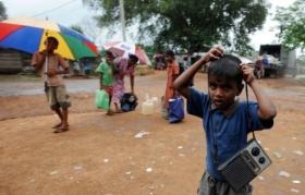 "Many have been moved to ""hastily cleared"" land without adequate shelter, water and sanitation, the embassy said (AFP/File, Lakruwan Wanniarachchi)"