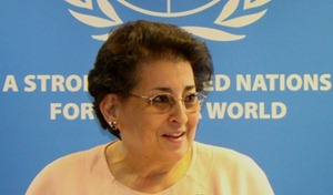 Thoraya Obaid, Under-Secretary General of the United Nations from 2000 to 2010. Obaid is from Saudi Arabia.