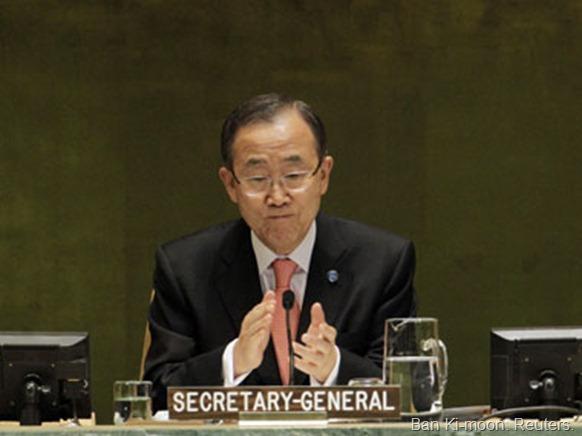 Ban Ki-moon. Reuters.