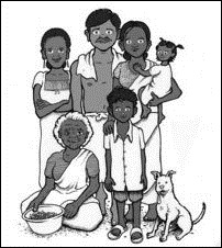 Tamil refugee family in the web-book