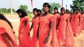 Some of the Tamil females, who were recruited to the army and reportedly suffered mental distress
