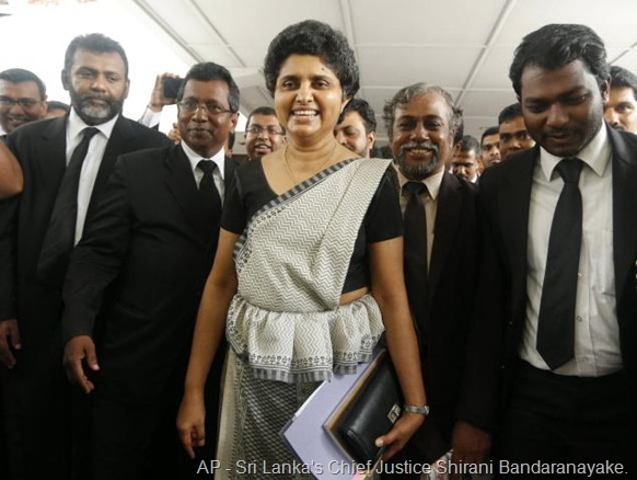 AP Sri Lanka's Chief Justice Shirani Bandaranayake. File photo