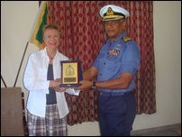French Ambassdor with SL Commander Northern Naval Area, Rear Admiral Shirantha Udawatta