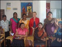 French Ambassador with Tamil and Muslim NGO workers in Mannaar