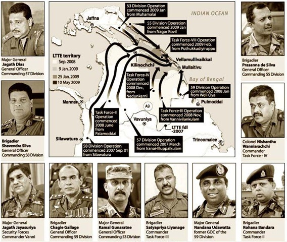 SLA command accused of committing war crimes during Mu'l'livaaykkaal massacre  (Photos: courtesy Sunday Observer)