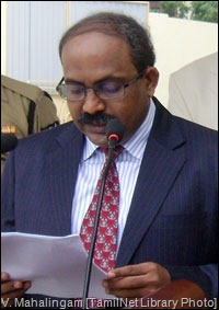 V. Mahalingam [TamilNet Library Photo]