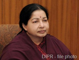DIPR A file photo of Tamil Nadu Chief Minister Jayalalithaa.
