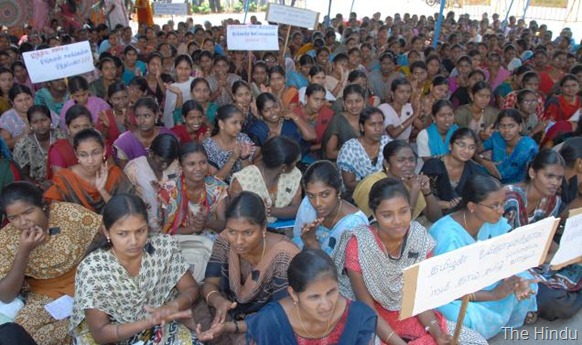 The Hindu Students protest against Sri Lanka President Mahinda Rajapaksa, as they condemn the killing of Tamilians in Sri Lanka, in Tiruchi. File photo: A. Muralitharan