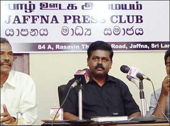 Sritharan_press_conf_Jaffna