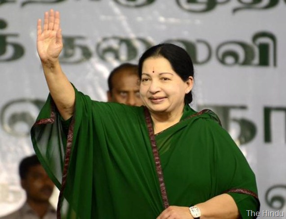 The Hindu A file photo of Tamil Nadu Chief Minister Jayalalithaa.