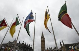 Flags of the Commonwealth Nations are shown in Parliament Square in London on March 10, 2013 (AFP/File, Justin Tallis)