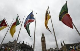 Flags of the Commonwealth Nations are shown in Parliament Square in London, on March 10, 2013 (AFP/File, Justin Tallis)