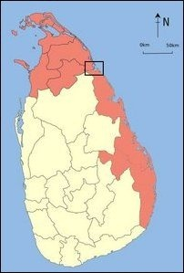 The region of traditional territory of the nation of Eezham Tamils 'officially' Sinhalicised by genocidal Colombo with and aim of wedging North and East.