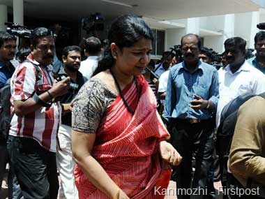 Kanimozhi is set to return to the Rajya Sabha. Here she is after visiting the Congress office in Chennai. Firstpost