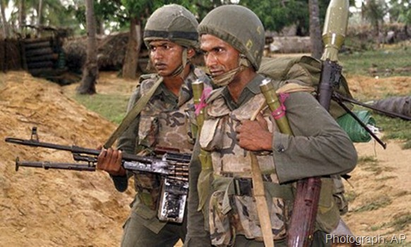 Sri Lankan soldiers searching for Tamil Tiger rebel positions in northern Jaffna, Sri Lanka in 2001. The new disclosures relate to the 1980s. Photograph: AP