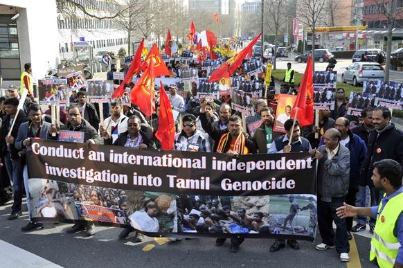 Tamil protesters in Geneva