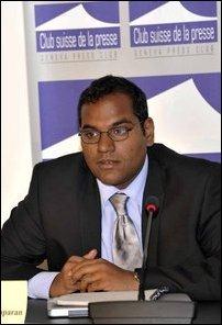 Kumaravadivel Guruparan from Tamil Civil Society Forum