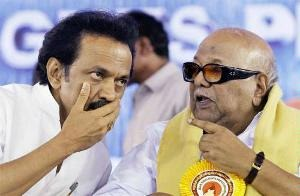 M Karunanidhi-led DMK headed for a rout in Tamil Nadu as its arch rival AIADMK was well set for a clean sweep, surging ahead in 35 seats out of 39 seats.