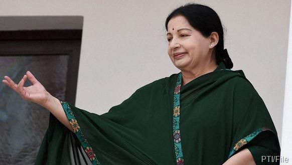Tamil Nadu chief minister J Jayalalithaa | PTI/File