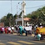 Women groups protest against SL Navy rape of Tamil children at Kaarainakar