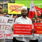 Tamils show solidarity with Kurdistan, Palestine