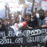 Media groups protest against SL military's shadow war on Eezham Tamil journalists